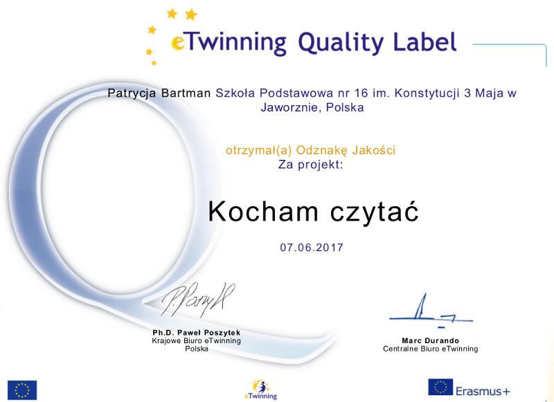 Krajowa Odznaka Jakości - P. Bartman
