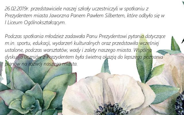 Spotkanie z Prezydentem Miasta Jaworzna