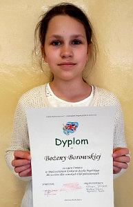 Laureatka Międzyszkolnego Konkursu Języka Angielskiego