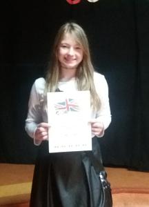 Laureatka konkursu języka angielskiego