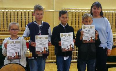 Zwycięska drużyna szachowa